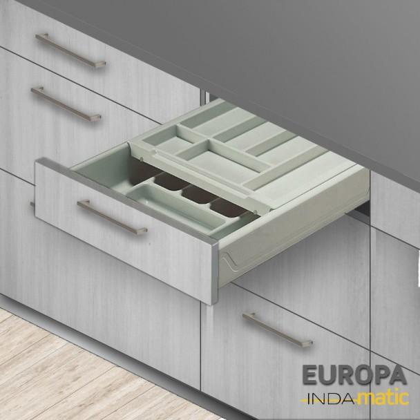 Tiroir de Cuisine Double Cubertero Europe PVC