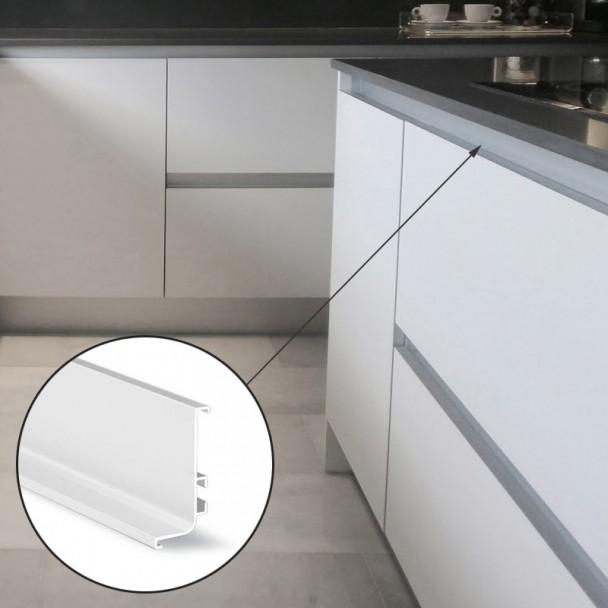 Système De Profil Gola Horizontal Haut Blanc 8006
