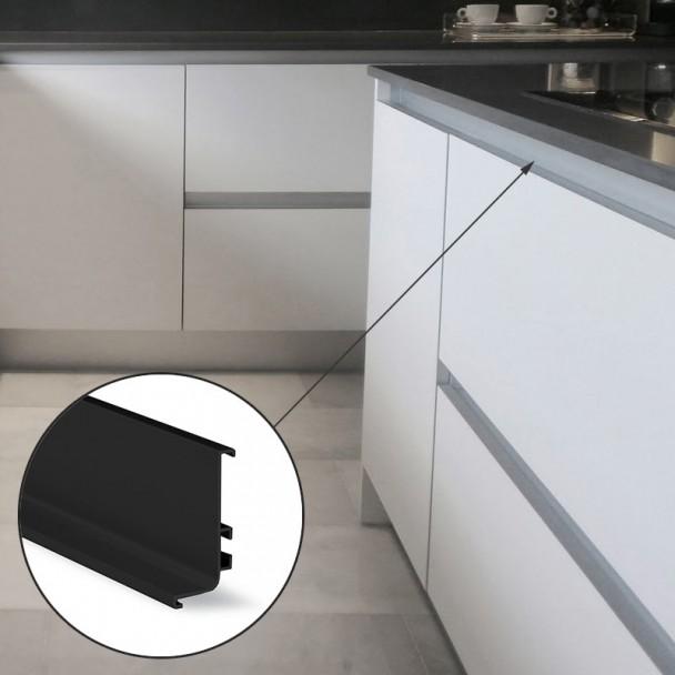 Système De Profil Gola Haut, Horizontal Noir 8006