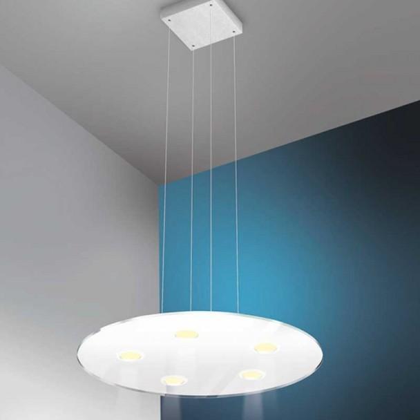 Lampe Led 600 mm 3750 lm, en acier Inoxydable et en Verre de Sun