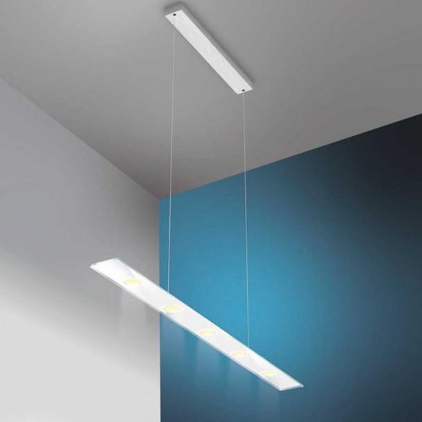 Lampe de Led, de forme Rectangulaire, en acier Inoxydable et en Verre de Sun V2