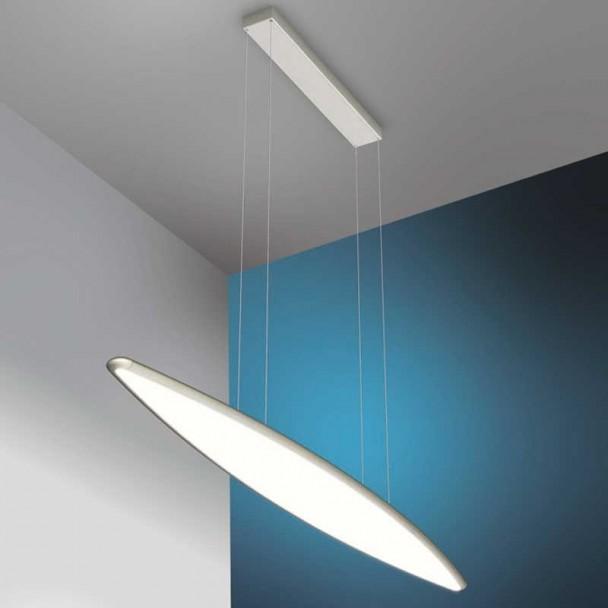 Lampe Led Plafond 36W 3740 lm, en acier Inoxydable et en Verre de Sky Emozione
