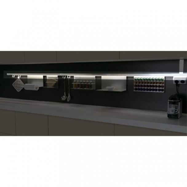 Kit de Barre d'Aluminium de Stark pour Accrocher les Accessoires de Cuisine