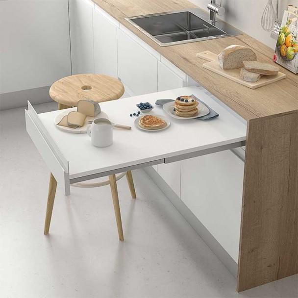 matriel de table amovible en ligne de cuisine compact - Table Amovible Cuisine