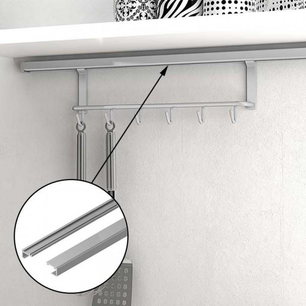 Barre de Support de 750 mm pour accrocher des Accessoires de Mur dans la Cuisine