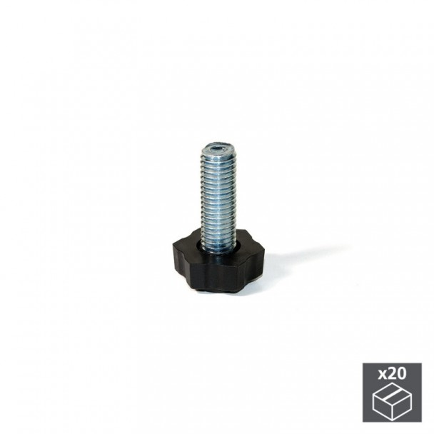 Niveleur M8 Hexagonal pour Réglage Externe H 38 mm (20 pièces)