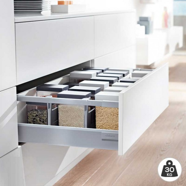 Cacerolero Gris 30 kg Blum Tandembox Antaro D une cuisine