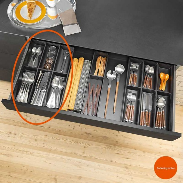 Cubertero AMBIA-LINE en acier de Tiroir de Cuisine LEGRABOX