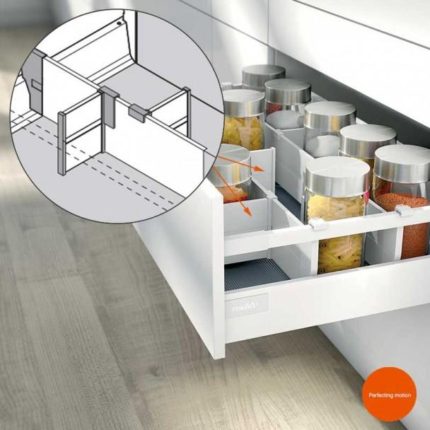 Séparateur Longitudinal ORGA-LINE pour les blocs-tiroirs de Cuisine Blum
