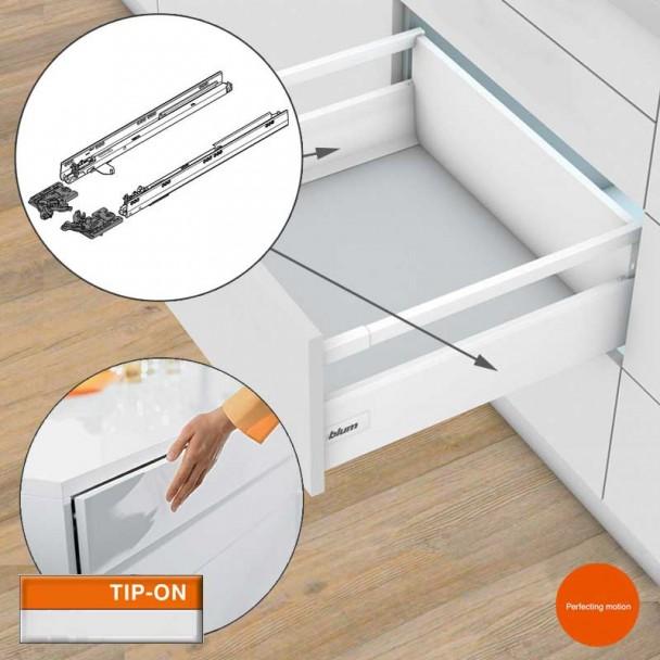 Guides de 50 kg TIP-on pour les Tiroirs et les blocs-tiroirs Tandembox Antaro