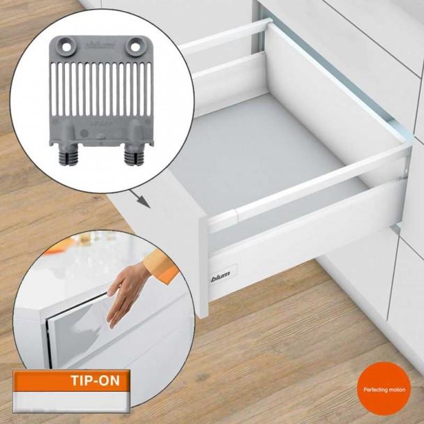Stabilisateur Avant TIP-on pour les Tiroirs et les blocs-tiroirs Antaro