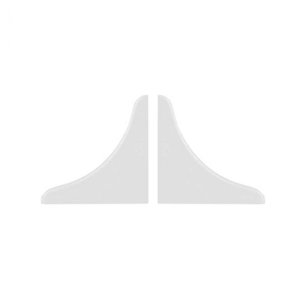 Couvertures pour Plinthe Isolant de Comptoir Blanc (2 pcs)