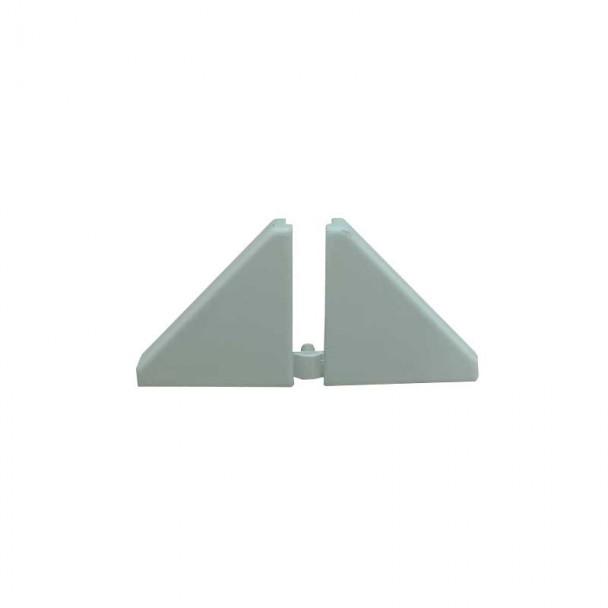 Couvertures pour Plinthe Isolant de Comptoir Gris (2 pcs)