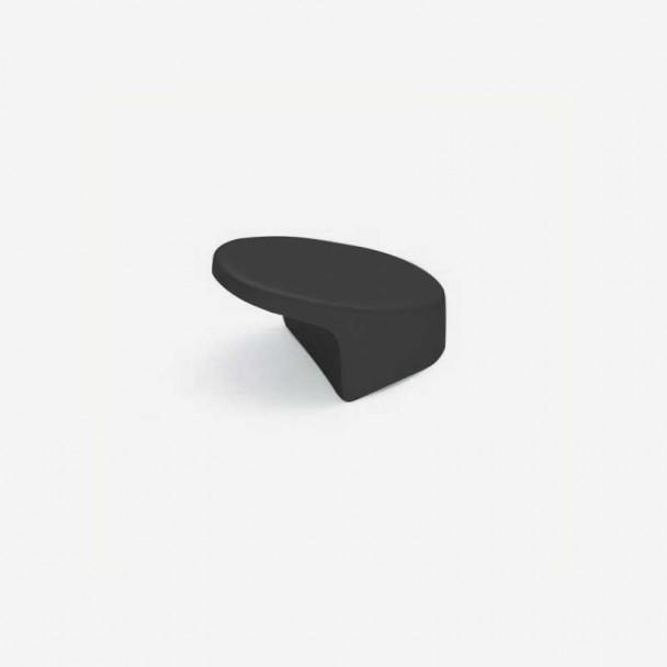 Bouton de Zamak Noir Mat 3492