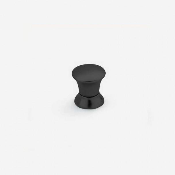 Bouton de Zamak Noir Mat 3426