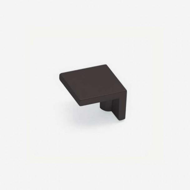 Bouton de Zamak Noir Mat 2399