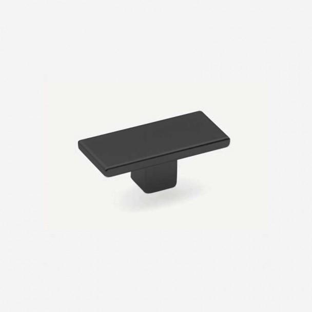 Bouton de Zamak Noir Mat 6004