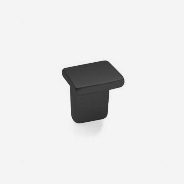 Bouton de Zamak Noir Mat 6019