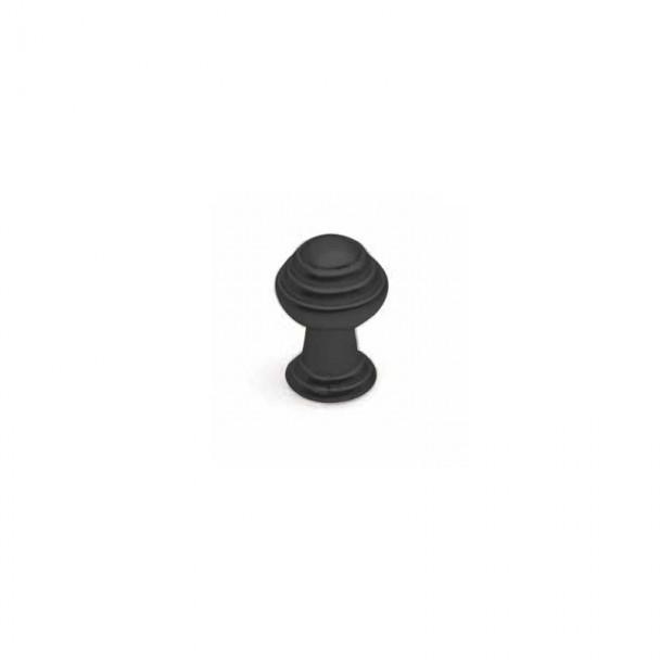 Bouton de Zamak Noir Mat 3495