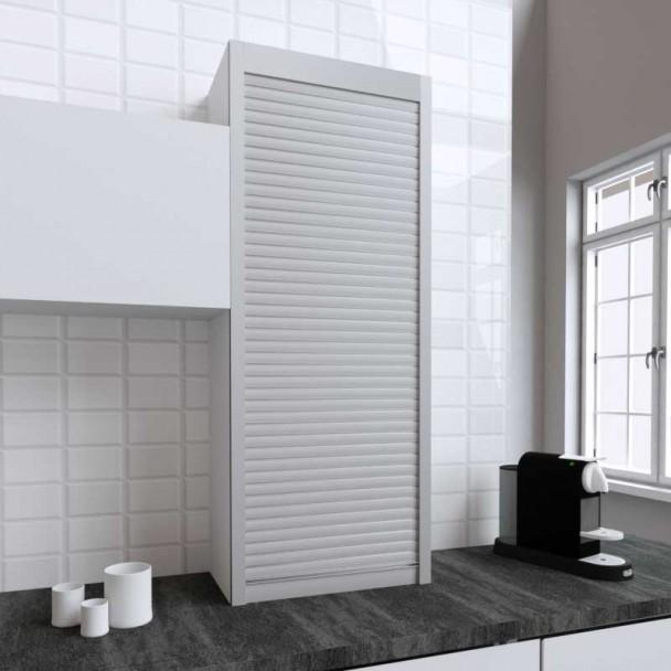Kit Volet Roulant 60 x 150 cm PVC Inox pour Meubles de Cuisine