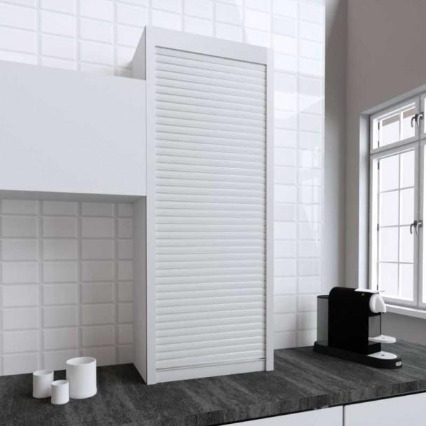 Kit Volet Roulant 60 x 150 cm PVC Blanc pour Meubles de Cuisine