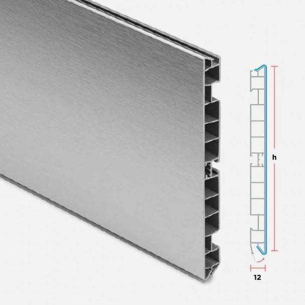 Plinthe en PVC Aluminium Brossé pour Cuisine