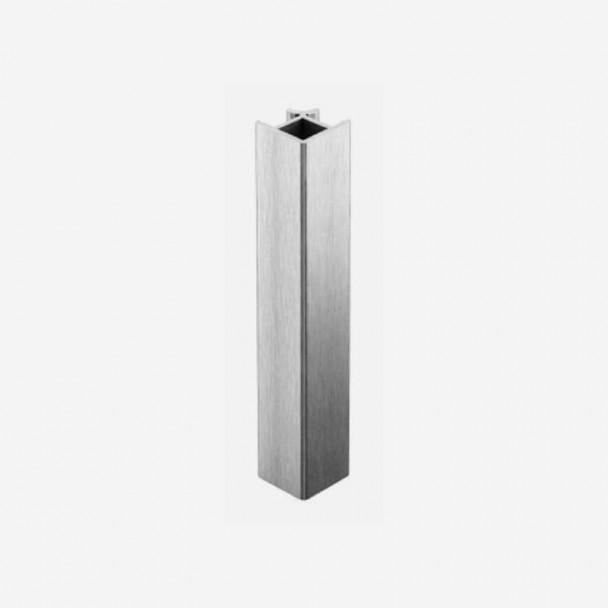 Angle 90º Aluminium Brossé pour Plinthes en PVC de Cuisine