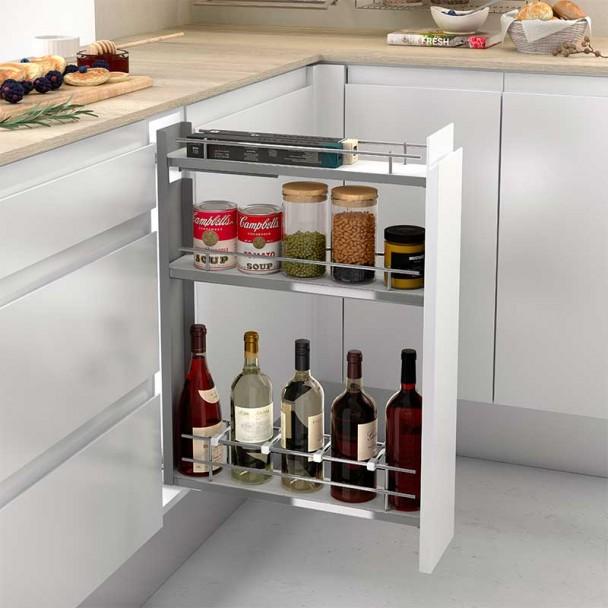 Wine Rack Amovible Avant 3 Hauteurs Compact