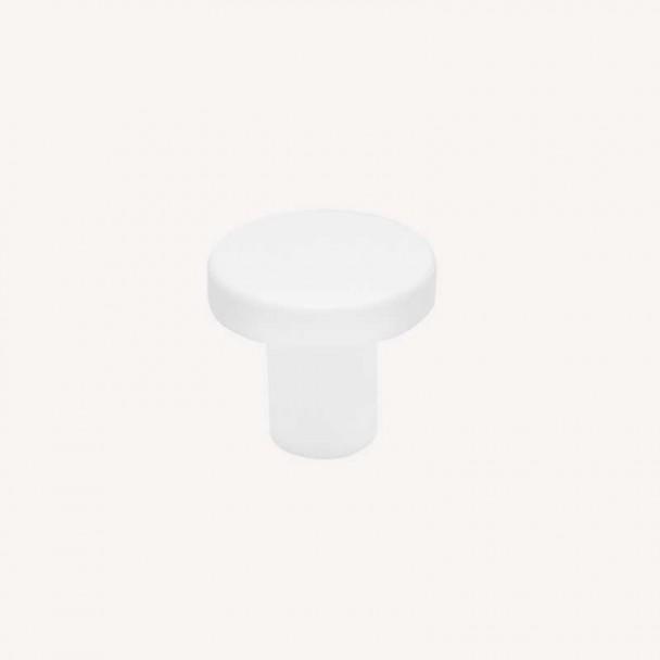 Bouton de Zamak Blanc Mat 2078E