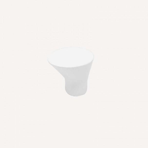 Bouton de Zamak Blanc Mat 3488