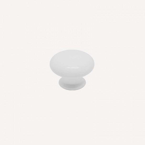 Bouton de Résine Blanc Mat 3001