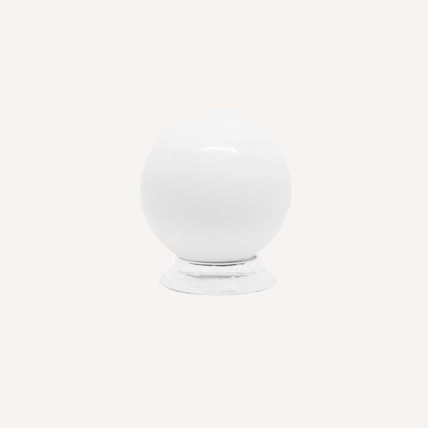 Bouton de Résine Blanc Mat 3417