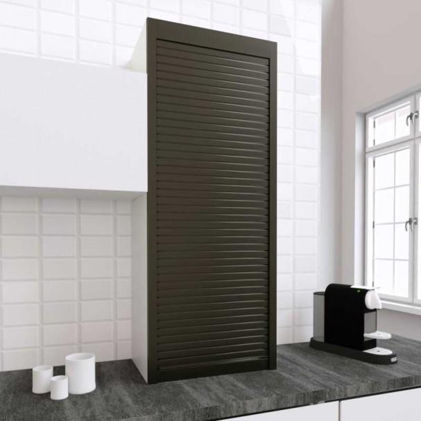 Kit Volet Roulant 60 x 150 cm PVC Titane pour Meubles de Cuisine