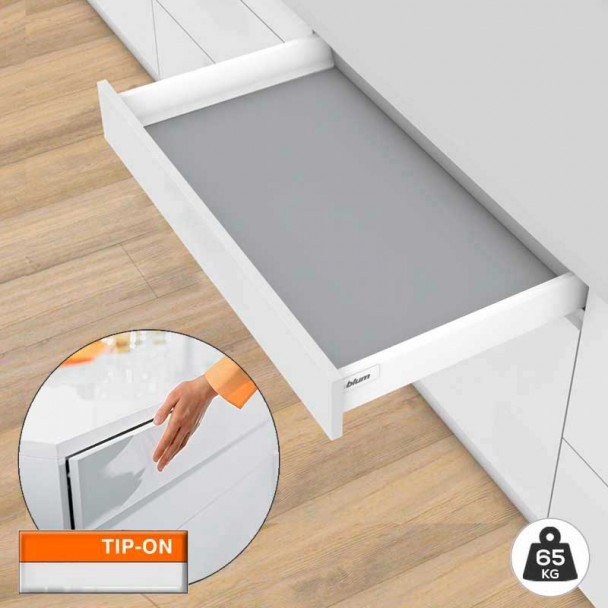 Tiroir Blanc TIP-ON BLUMOTION 65 kg Tandembox Antaro M